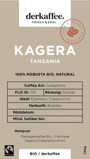 Kagera Robusta DUNKEL Bio /Fairtrade