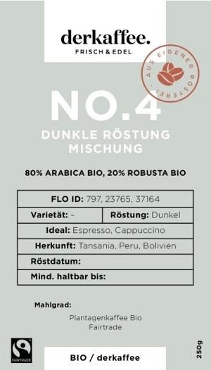 Mix No. 4 DUNKEL Bio /Fairtrade